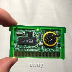 GUARANTEED AUTHENTIC Pokémon Emerald Version Game Boy Advance GBA NEW BATTERY