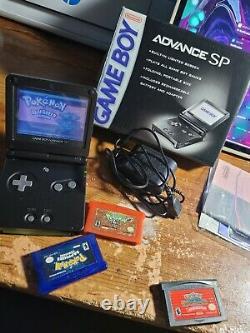 Gameboy Advance sp BUNDLE with 4 Authentic Pokémon Games