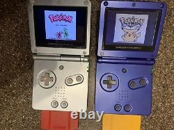 Gameboy SP 101 Micro Cobalt 11 Pokemon Authentic Game Lot Emerald Crystal