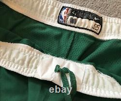 Greg Monroe GAME WORN Boston Celtics Nike GREEN NBA Authentic Shorts Size 44