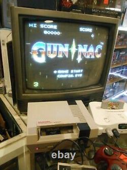 Gun Nac NES Original Nintendo Game Cart Only AUTHENTIC/TESTED with Board Pics RARE