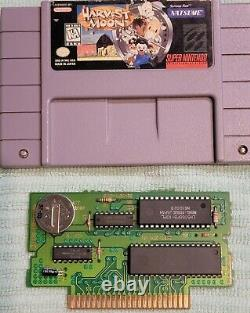 Harvest Moon Super Nintendo SNES 1997 AUTHENTIC, good condition with plastic case