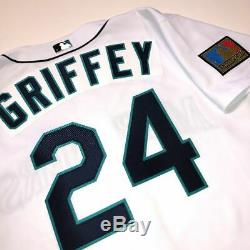 Ken Griffey Jr. 1994 Seattle Mariners Authentic Russell Game Jersey 44 White
