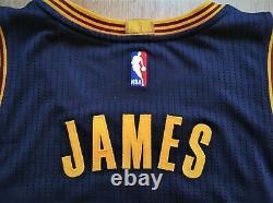 LEBRON JAMES Cleveland Cavaliers CAVS Adidas authentic pro cut game jersey XL+2