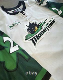 Lake Erie Monsters Cleveland Authentic Game-Worn St. Patricks Theme Jersey AHL