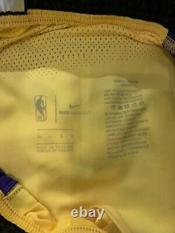 Lakers Lonzo Ball Medium BBB Game Worn Authentic Pro Cut Shorts Game Used SZ 38