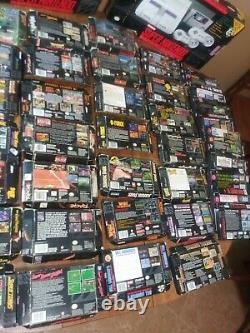 Large Super Nintendo SNES box lot only boxes. All authentic