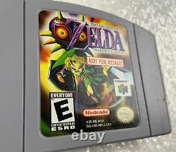 Legend of Zelda Majora's Mask N64 Not For Resale Grey NFR Gray Cart Authentic