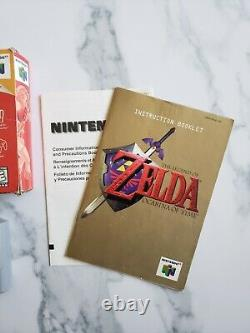 Legend of Zelda Ocarina of Time Complete CIB N64 Game Box Manual. Authentic VG