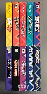 Lot of 11 Sega Mega Drive Genesis Accolade Ballistic Boxes Authentic Originals