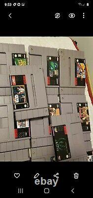 Lot of 72 original authentic Super Nintendo SuperNES SNES game cartridges