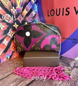 Louis Vuitton Cosmetic Pouch Crossbody Custom Painted like game on authentic