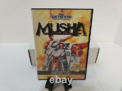 M. U. S. H. A. MUSHA (Sega Genesis, 1990) In Box RARE Authentic