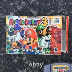 Mario Party 3 Complete CIB. N64 Game, Box, Manual. Authentic Tested Good