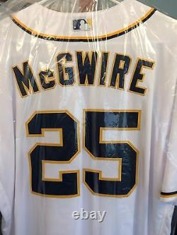 Mark McGwire Game Used Worn 2016 San Diego Padres Jersey Hat Cap MLB Authentic