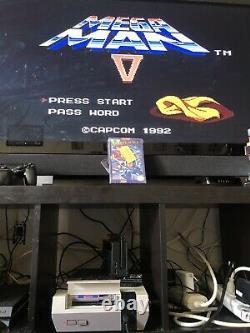 Mega Man 5 NES Authentic Cartridge, Box, Original Cellophane And Hang Tag