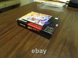 Mega Man X3 SNES complete registration card manual box authentic