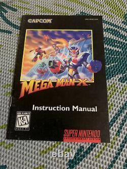 Mega Man X3 (Super Nintendo SNES) Almost Complete in Box Cart Manual AUTHENTIC