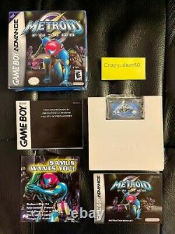 Metroid Fusion (Nintendo GBA 2002) GameBoy Advance CIB Complete Authentic Tested