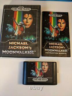 Michael Jackson's Moonwalker (Sega Genesis, 1990) Authentic Complete CIB