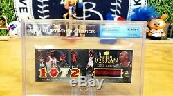 Michael Jordan 1/1 Auto Book 2008-09 Upper Deck Exquisite Game Used Jersey Patch