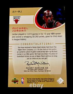 Michael Jordan 2003-04 Ud Upper Deck Sp Game Used Authentic Fabrics Jersey Patch