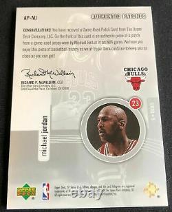 Michael Jordan 2004-05 SP Game Used Authentic Patches 3 Color Patch #d 054/100