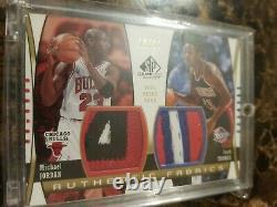 Michael Jordan Isiah Thomas 2004 Sp Authentic Fabrics Game Used Patch /10 Rare
