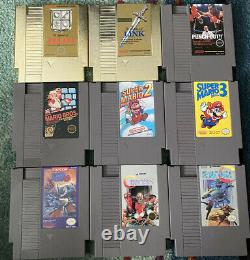 NES Console and Game Lot! 30 Games! Zelda, Mario, Mega Man! All Authentic
