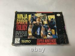 NINJA GAIDEN TRILOGY (SUPER NINTENDO, SNES) With BOX & MANUAL AUTHENTIC TESTED