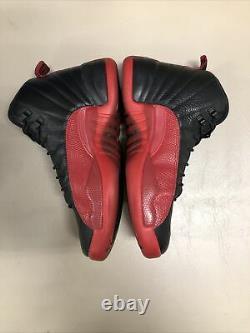 Nike Air Jordan 12 Flu Game sz 9 100% Authentic Retro XII Jordan Black Red