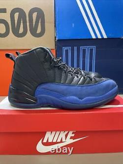 Nike Air Jordan 12 Game Royal sz 9.5 100% authentic retro XII Black Blue