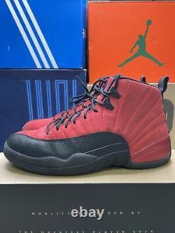 Nike Air Jordan Retro 12 Reverse Flu Game sz 9.5 100% Authentic Og XII red Black