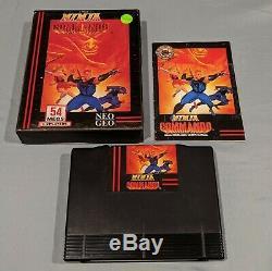 Ninja Commando Neo Geo AES Dog Tag Authentic Complete in Box (CIB)