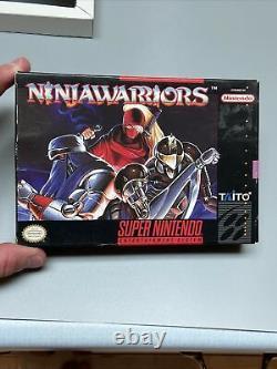 Ninja Warriors Complete Super Nintendo Snes Authentic