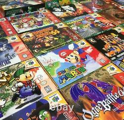 Nintendo 64 N64 Complete in Box CIB Video Games Authentic Cleaned Tested