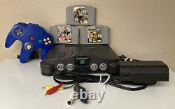 Nintendo 64 N64 Console Bundle with Controller + 3 Games Authentic & Tested