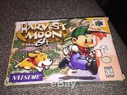 Nintendo 64 N64 Harvest Moon 64 Complete in Box CIB Authentic