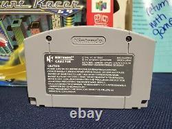 Nintendo 64 N64 Stunt Racer Cartridge Box Manual Authentic Blockbuster Exclusive