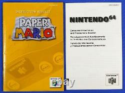 Nintendo 64 Paper Mario N64 With Box & Manual Authentic Tested