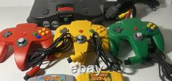 Nintendo 64 Video Game Console Bundle 3 Controllers And 4 Games ALL Authentic