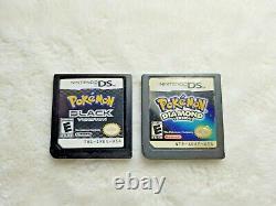 Nintendo DS/3DS Lot 8 Pokemon GAMES Black 1+2 + SoulSilver + MORE, AUTHENTIC