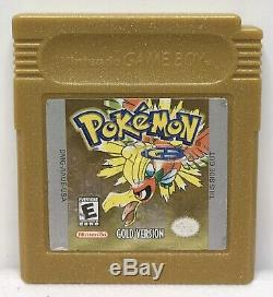 Nintendo Game Boy Color Pokemon Gold Game Only Authentic New Save Battery