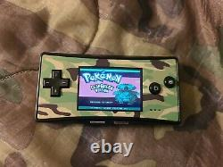 Nintendo Game Boy Micro Console and Authentic Pokemon Leaf Green
