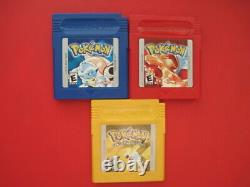 Nintendo Game Boy Pokemon Games Blue Red Yellow Authentic & Saves