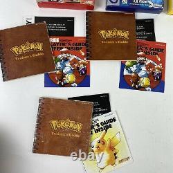 Nintendo Pokemon Red Blue & Yellow Complete In Box CIB Authentic 1st Edition