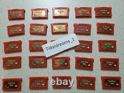 ORIGINAL AUTHENTIC Pokemon FireRed Version (Game Boy Advance) Tested & Saves