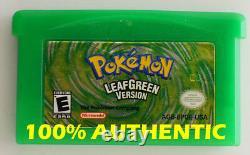 ORIGINAL AUTHENTIC Pokemon LEAF GREEN Version Save Properly Gameboy Advance