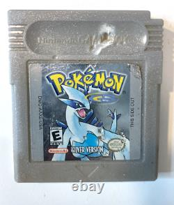 ORIGINAL AUTHENTIC Pokemon Silver Version with New Save Battery Nintendo Gameboy
