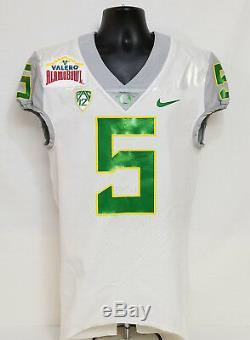 Oregon DUCKS 2016 Alamo Bowl Nike GAME WORN FOOTBALL JERSEY Griffin MEN'S 38